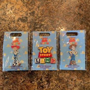 Toy Story Land Enamel Pins